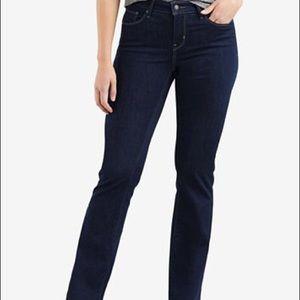 Levi's 529 Curvy Boot Cut Dark Wash Jeans